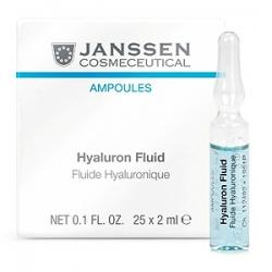 Janssen Cosmetics Ampoules Hyaluron Fluid - Ультраувлажняющая Сыворотка с Гиалуроновой Кислотой 25 х 2 мл