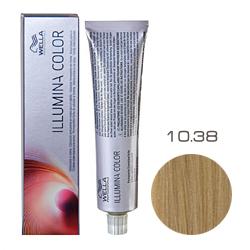 Wella Professionals Illumina Color - Стойкая крем-краска 10/38 Яркий блонд золотисто-жемчужный 60мл