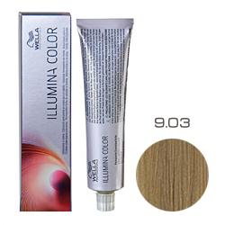 Wella Professionals Illumina Color - Стойкая крем-краска 9/03 Очень светлый блонд натуральный золотистый 60мл