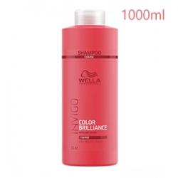 Wella Professionals Invigo Color Brilliance Coarse Protection Shampoo - Шампунь для Защиты Цвета Окрашенных Жёстких волос 1000 мл