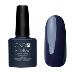 CND Shellac Гель-лак для ногтей Indigo Frock 7,3 мл темный синий с серым оттенком.