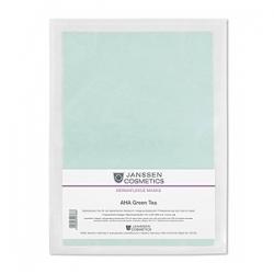 Janssen Cosmetics Collagen AHA Green Tea - Коллагеновая маска с AHA и зелёным чаем (зеленый лист)