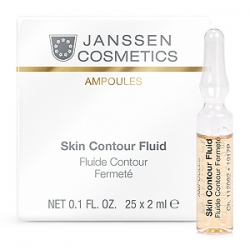 Janssen Cosmetics Ampoules Skin Contour Fluid Anti-age - Лифтинг-сыворотка в ампулах с пептидами, стимулирующими синтез эластина 25 х 2мл