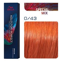 Wella Koleston Perfect ME+ Special Mix - Крем-краска для волос 0/43 Красно-золотистый 60 мл