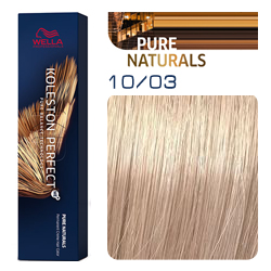 Wella Koleston Perfect ME+ Pure Naturals - Крем-краска для волос 10/03 Пшеница 60 мл