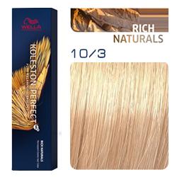 Wella Koleston Perfect ME+ Rich Naturals - Крем-краска для волос 10/3 Шампанское 60 мл