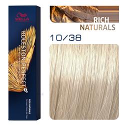 Wella Koleston Perfect ME+ Rich Naturals - Крем-краска для волос 10/38 Яркий блонд золотой жемчуг 60 мл