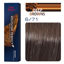 Wella Koleston Perfect ME+ Deep Browns - Крем-краска для волос 6/71 Королевский соболь 60 мл
