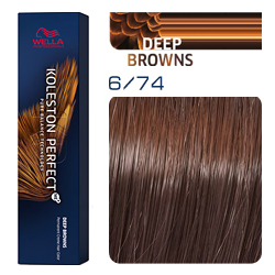Wella Koleston Perfect ME+ Deep Browns - Крем-краска для волос 6/74 Красная планета 60 мл