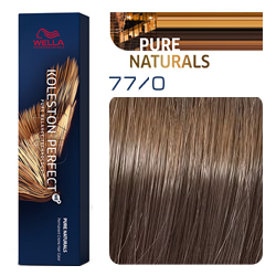 Wella Koleston Perfect ME+ Pure Naturals - Крем-краска для волос 77/0 Блонд интенсивный 60 мл