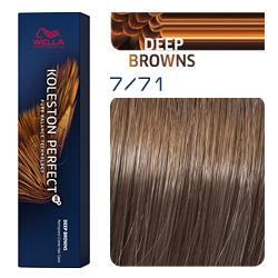Wella Koleston Perfect ME+ Deep Browns - Крем-краска для волос 7/71 Янтарная куница 60 мл