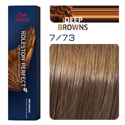Wella Koleston Perfect ME+ Deep Browns - Крем-краска для волос 7/73 Блонд коричнево-золотистый 60 мл