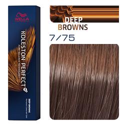Wella Koleston Perfect ME+ Deep Browns - Крем-краска для волос 7/75 Светлый палисандр 60 мл