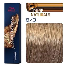Wella Koleston Perfect ME+ Pure Naturals - Крем-краска для волос 8/0 Светлый блонд 60 мл