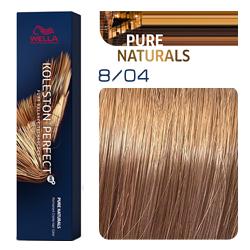 Wella Koleston Perfect ME+ Pure Naturals - Крем-краска для волос 8/04 Яркий закат 60 мл