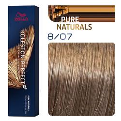 Wella Koleston Perfect ME+ Pure Naturals - Крем-краска для волос 8/07 Платан 60 мл