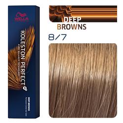 Wella Koleston Perfect ME+ Deep Browns - Крем-краска для волос 8/7 Светлый блонд коричневый 60 мл