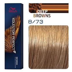 Wella Koleston Perfect ME+ Deep Browns - Крем-краска для волос 8/73 Светлый блонд коричнево-золотистый 60 мл