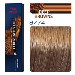 Wella Koleston Perfect ME+ Deep Browns - Крем-краска для волос 8/74 Ирландский красный 60 мл