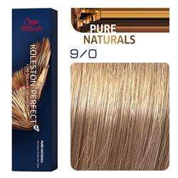 Wella Koleston Perfect ME+ Pure Naturals - Крем-краска для волос 9/0 очень светлый блонд натуральный 60 мл