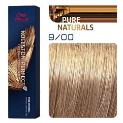 Wella Koleston Perfect ME+ Pure Naturals - Крем-краска для волос 9/00 Очень светлый блонд натуральный 60 мл