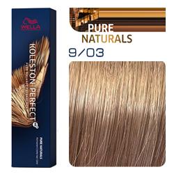 Wella Koleston Perfect ME+ Pure Naturals - Крем-краска для волос 9/03 Лен 60 мл