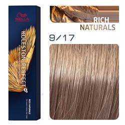 Wella Koleston Perfect ME+ Rich Naturals - Крем-краска для волос 9/17 Очень светлый блонд пепельно-коричневый 60 мл