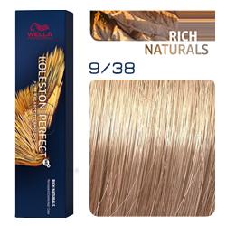 Wella Koleston Perfect ME+ Rich Naturals - Крем-краска для волос 9/38 Очень светлый блонд золотой жемчуг 60 мл