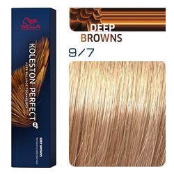 Wella Koleston Perfect ME+ Deep Browns - Крем-краска для волос 9/7 Светлый блонд коричневый 60 мл