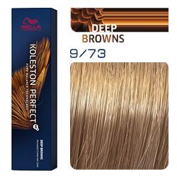 Wella Koleston Perfect ME+ Deep Browns - Крем-краска для волос 9/73 Очень светлый блонд коричнево-золотистый 60 мл