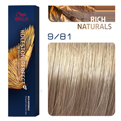 Wella Koleston Perfect ME+ Rich Naturals - Крем-краска для волос 9/81 Сливочный камео 60 мл