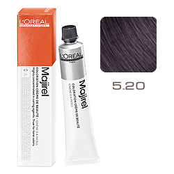 L'Oreal Professionnel Majirel Majirouge - Краска для волос Мажирель 5.20 Светлый шатен интенсивный перламутровый 50 мл