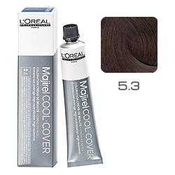 L'Oreal Professionnel Majirel Cool Cover - Краска для волос Кул Кавер 5.3 Светлый шатен золотистый 50 мл