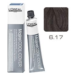 L'Oreal Professionnel Majirel Cool Cover - Краска для волос Кул Кавер 6.17 Темный блондин пепельный металлизированный 50 мл