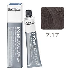 L'Oreal Professionnel Majirel Cool Cover - Краска для волос Кул Кавер 7.17 Блондин пепельный металлизированный 50 мл
