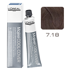 L'Oreal Professionnel Majirel Cool Cover - Краска для волос Кул Кавер 7.18 Блондин пепельный мокка 50 мл