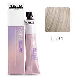 L'Oreal Professionnel Majirel GLOW Light Base - Краска для волос .01 Дымчато-бежевый (для светлых баз от 6 до 10) 50 мл