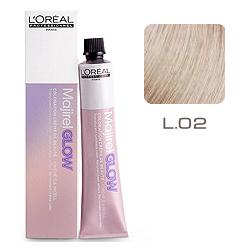 L'Oreal Professionnel Majirel GLOW Light Base - Краска для волос .02 Воздушный поцелуй (для светлых баз от 6 до 10) 50 мл