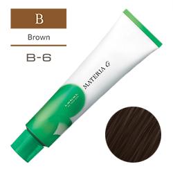 LEBEL Краска для волос Materia G Тон B6 - Тёмный коричневый 120 гр