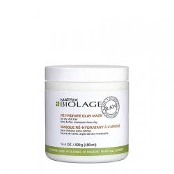 Matrix Biolage R.A.W Re-Hydrate Clay Mask - Детокс-маска увлажняющая с маслом Ши и марокканской вулканической глиной 400 мл