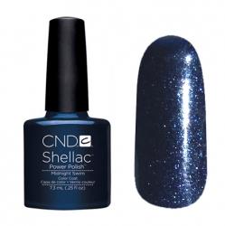 CND Shellac Гель-лак для ногтей Midnight Swim 7,3 мл темно-синий с микроблеском.