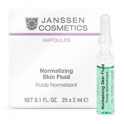 Janssen Cosmetics Ampoules Normalizing Fluid - Нормализующий Концентрат для Ухода за Жирной Кожей 25 х 2 мл