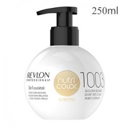 Revlon Professional Nutri Color Creme 1003 Golden Blonde - Крем-краска тон Очень светлый золотистый 250 мл