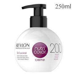 Revlon Professional Nutri Color Creme 200 Violet - Крем-краска тон Фиолетовый 250 мл