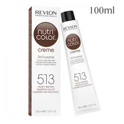 Revlon Professional Nutri Color Creme 513 Frosty Brown - Крем-краска тон Глубокий ореховый 100 мл