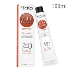 Revlon Professional Nutri Color Creme 740 Light Copper - Крем-краска тон Медный 100 мл