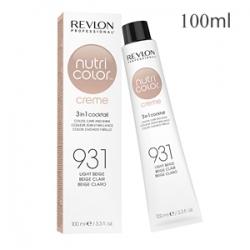 Revlon Professional Nutri Color Creme 931 Light Beige - Крем-краска тон Светлый бежевый 100 мл