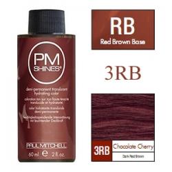Paul Mitchell Shines Chocolate Cherry - Краска для мягкого тонирования 3RB Вишня в шоколаде 60 мл