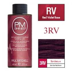 Paul Mitchell Shines Bordeaux - Краска для мягкого тонирования 3RV Бордо 60 мл