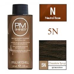 Paul Mitchell Shines Chocolate Syrup - Краска для мягкого тонирования 5N Шоколадный сироп 60 мл